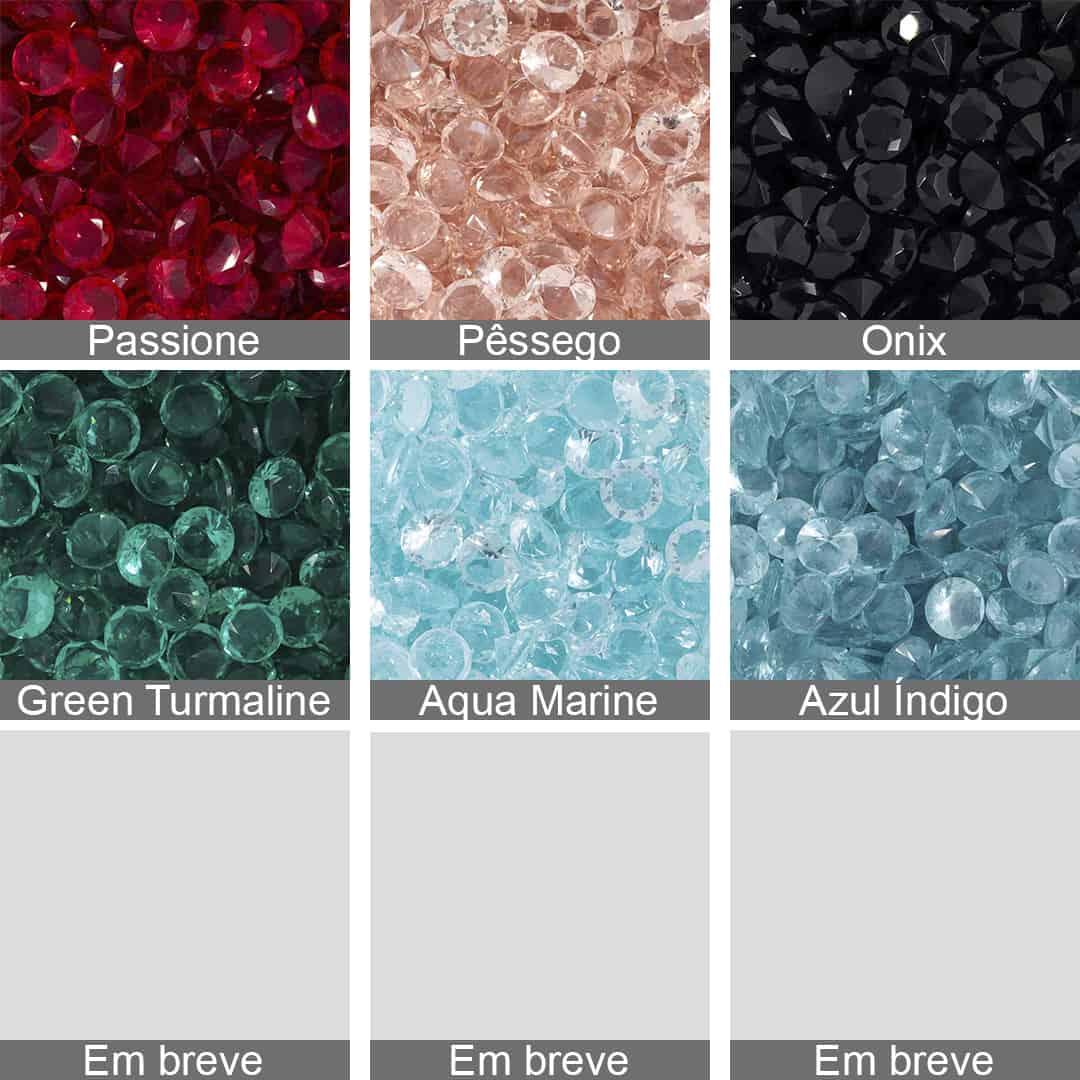 Cristal Lapidado Redondo 8mm - 04 peças - CL022  - ArtStones