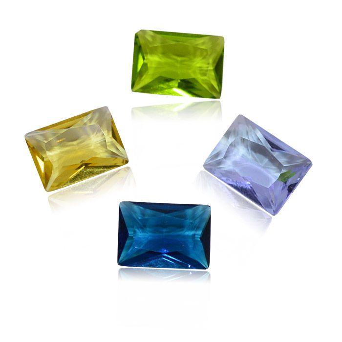 Cristal Lapidado Retangular 8x10mm - 03 peças - CLU_103  - ArtStones