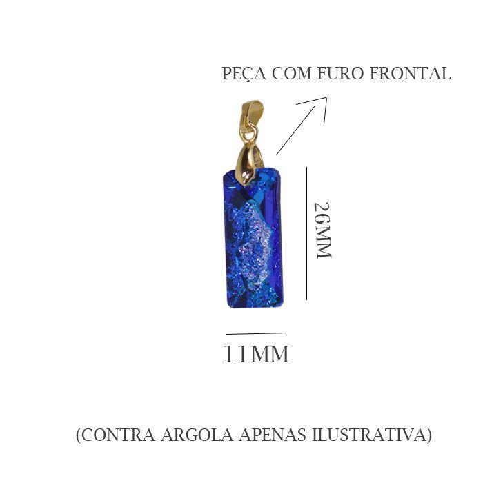 Cristal Luminnous com Drusa 26x11mm Furo Frontal - 01 peça - CLU_302  - ArtStones