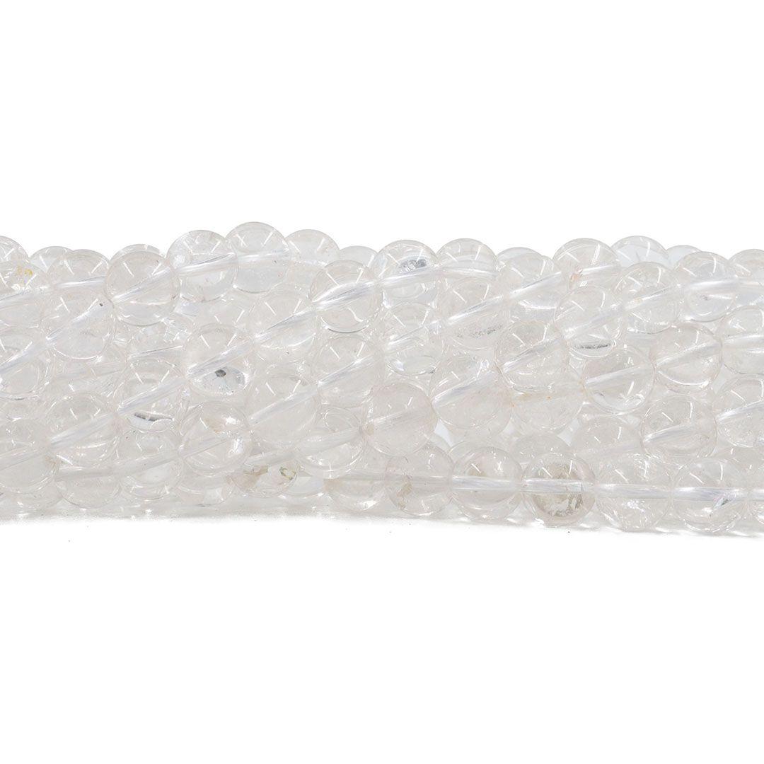 Cristal de Rocha Natural Fio com Esferas de 10mm - FESF_150/10  - ArtStones