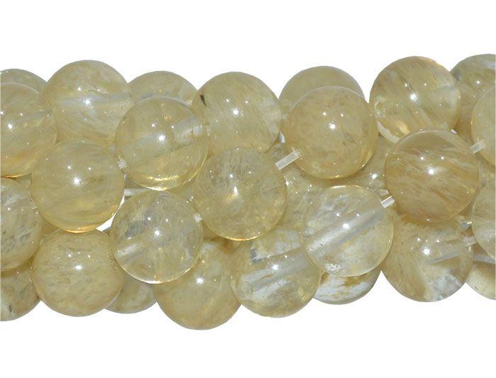 Cristal Rutilo Fio com Esferas de 12mm - F166  - ArtStones