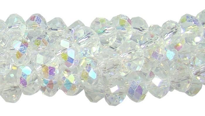 Fio de Cristal de Vidro Boreal 6mm - 90 cristais - CV101  - ArtStones