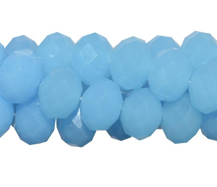 Fio de Cristal de Vidro Azul 12mm - 70 cristais - FCR_538  - ArtStones