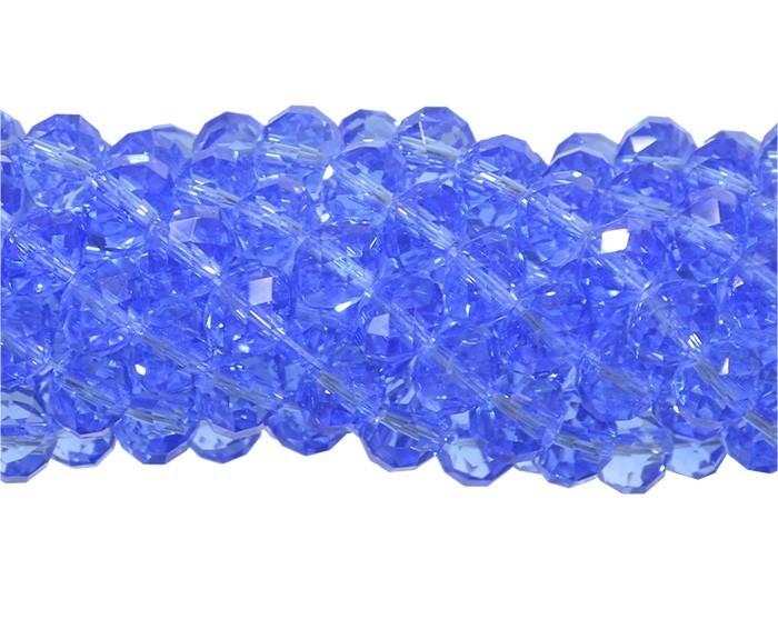 Fio de Cristal de Vidro Azul Royal 8mm - 70 cristais - CV124  - ArtStones