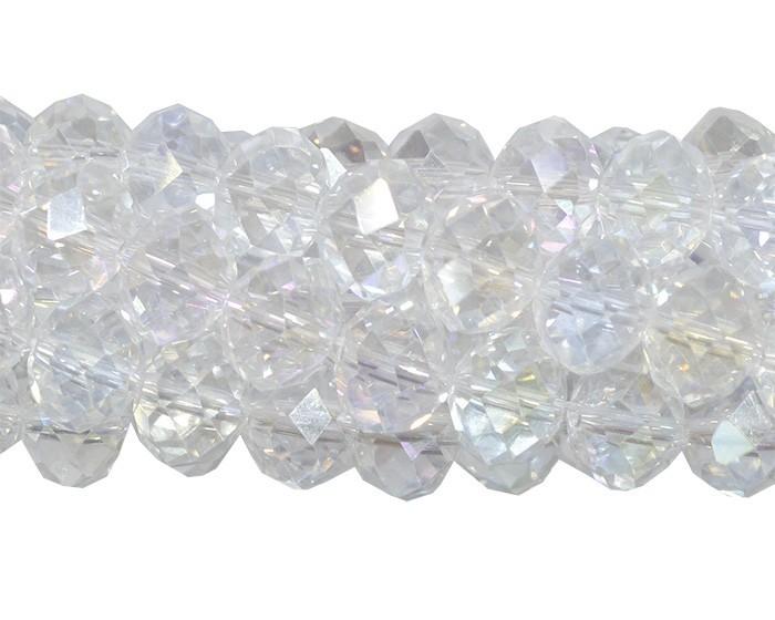 Fio de Cristal de Vidro Boreal 10mm - 70 cristais - CV179  - ArtStones