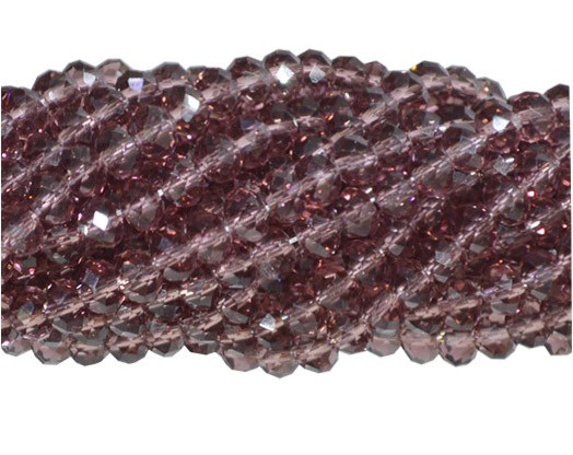 Fio de Cristal de Vidro Granada 3mm - 144 cristais - CV043  - ArtStones