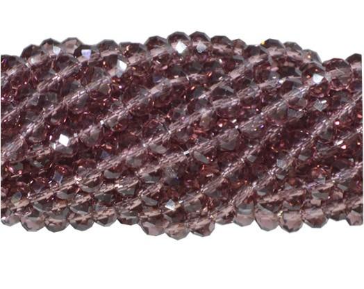 Fio de Cristal de Vidro Granada 4mm - 130 cristais - CV072  - ArtStones