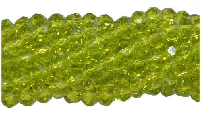 Fio de Cristal de Vidro Verde Peridoto 2mm - 180 cristais - CV000  - ArtStones