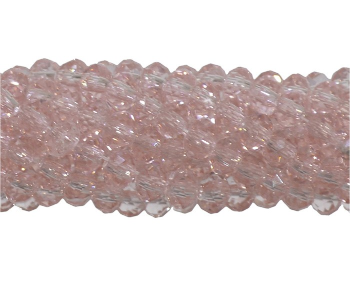 Cristal de Vidro Rosa Escuro 6mm Facetado - 30 Peças - FCR_198  - ArtStones