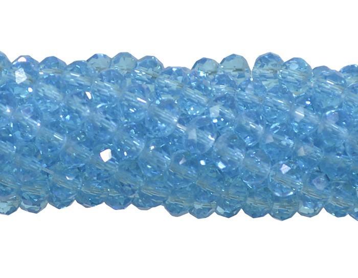 Fio de Cristal de Vidro Azul Topázio 2mm - 180 cristais - CV013  - ArtStones