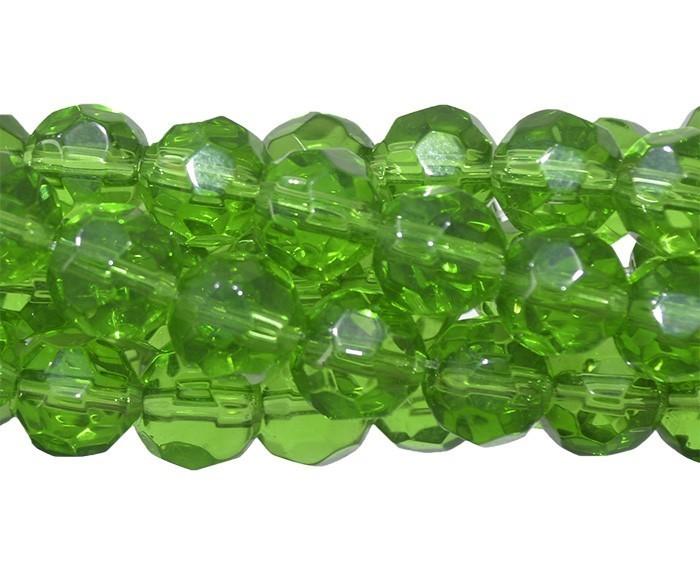 Fio para Guia de Cristal de Vidro Turmalina 8mm - 126 cristais - FCR_240  - ArtStones