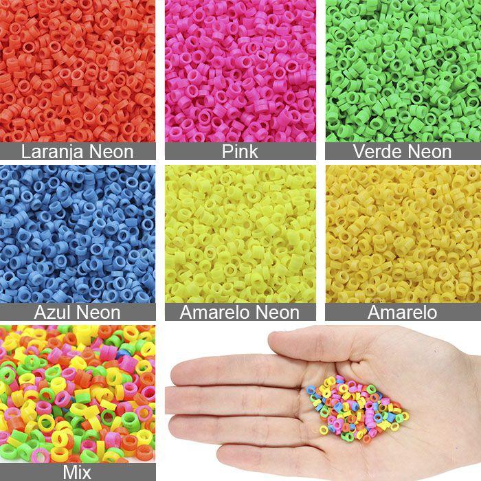 Elo Clay Colorido tipo Fimo 4x2mm para Pulseiras - 15 GRAMAS - OM020  - ArtStones