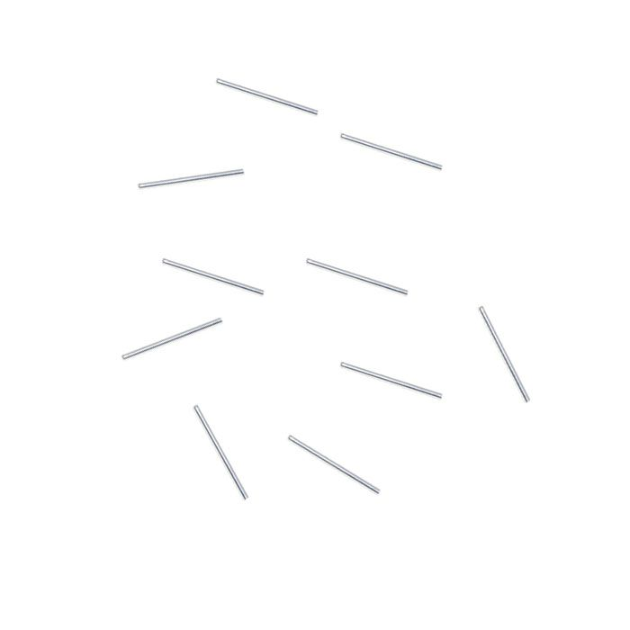 Entremeio Canutilho de Prata 925 Liso 9x1.5mm - 10 peças - EP_20  - ArtStones
