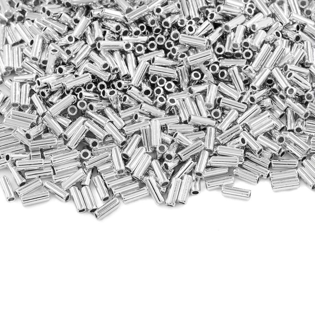 Entremeio Canutilho Liso Folheado 4x1.5mm - 2grs - FO406  - ArtStones
