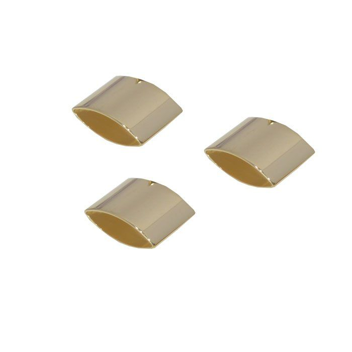 Entremeio Retangular 13x10mm Folheado a Ouro - 03 peças - ET_06FO  - ArtStones