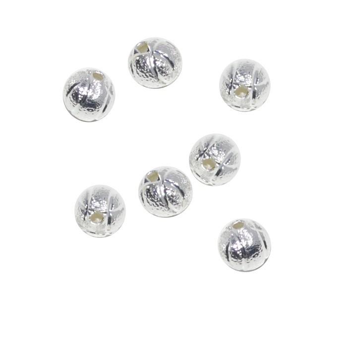 Esfera Diamantada 5mm Folheado a Prata - 2 gramas - EF_25  - ArtStones