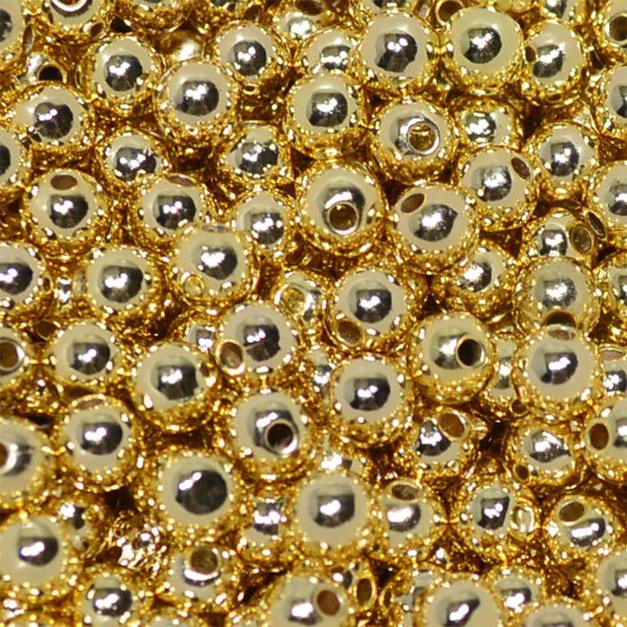 Esfera ABS  3.5mm Folheada a Ouro - 02 Gramas - ESFO_27  - ArtStones