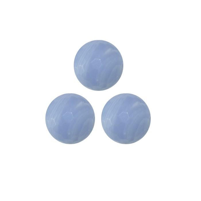 Esfera Avulsa de Resina Azul Celeste 12 e 14mm - Pacote - OM025  - ArtStones