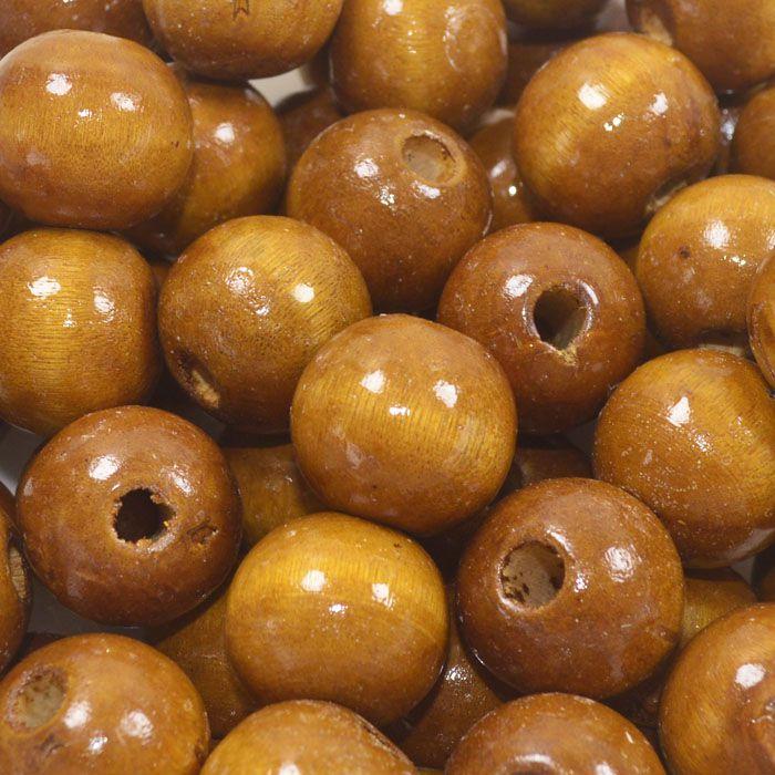 Esfera de Madeira Caramelo 18mm - 100grs - EMA_275  - ArtStones