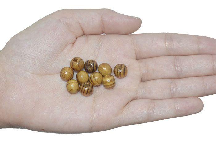 Esfera de Madeira Pinus Encerada - Tamanhos variados - Pacote - CM023  - ArtStones