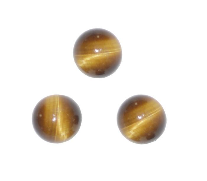 Esfera Sem Furo Olho de Tigre 6mm - 10 Peças - PA095  - ArtStones