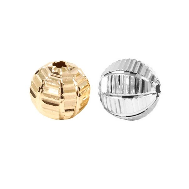 Esfera Diamantada Listra 8mm Folheada - 2 Peças - FO181  - ArtStones