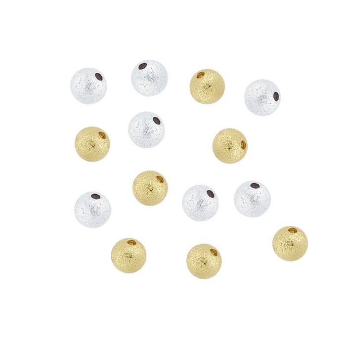Esfera Jateada 5mm Folheada - 2grs - FO128  - ArtStones