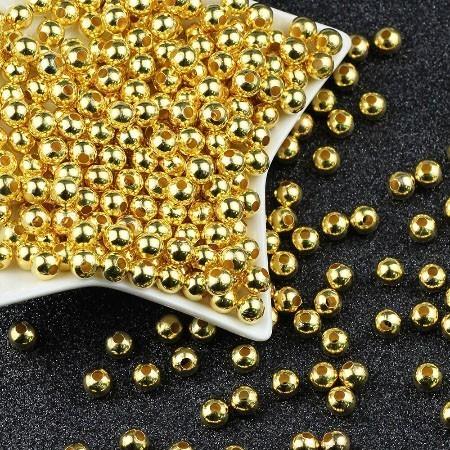 Esfera Lisa 4.5mm Folheada - 2 Gramas - FO131  - ArtStones