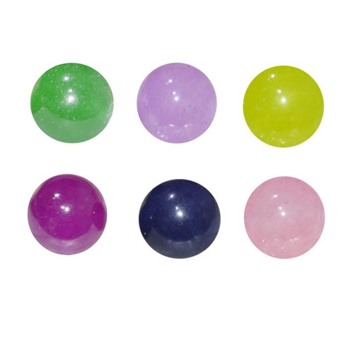 Esfera Avulsa de Jade Natural 12mm Cores Variadas - 4 Peças - ESF_200/12  - ArtStones