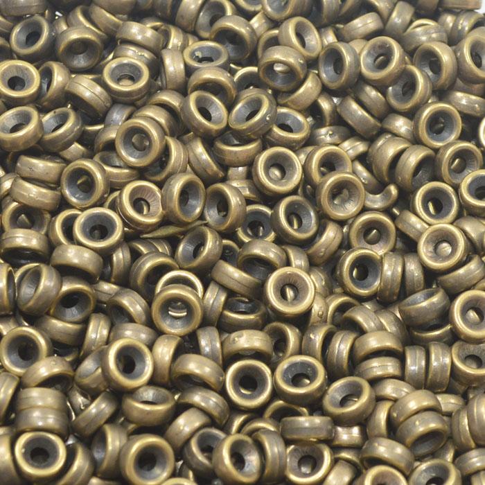 Espaçador Elo 6x3mm ABS Cores Variadas - 50 GRAMAS - OM101  - ArtStones