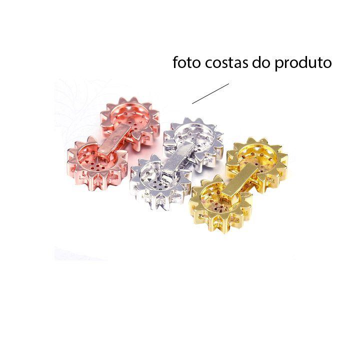 Fecho Flor 26mm com Zircônias Cravejadas - 01 Peça - FZI_104  - ArtStones