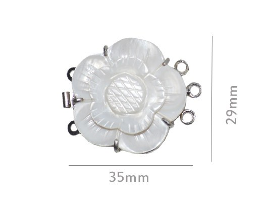 Fecho de Madrepérola Flor 29mm - 1 Peça - MP_225  - ArtStones