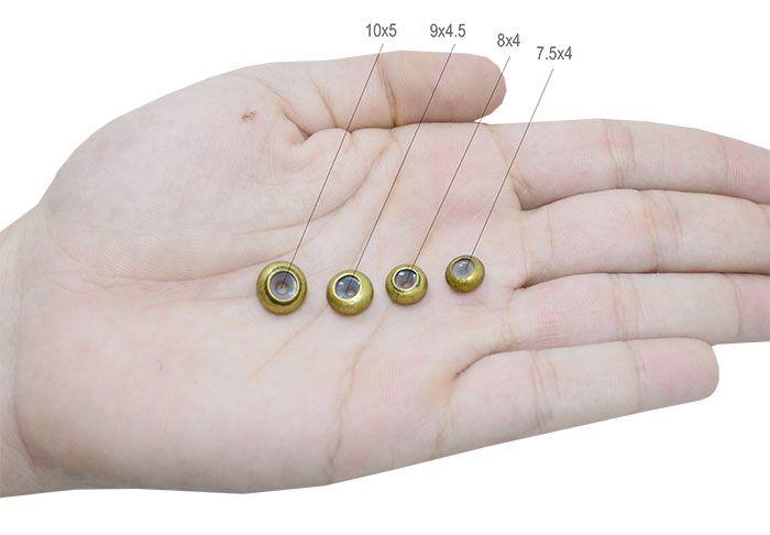 Fecho Gravata Donut 7 a 10mm Metal Ouro Velho - 04 peças - AM019  - ArtStones