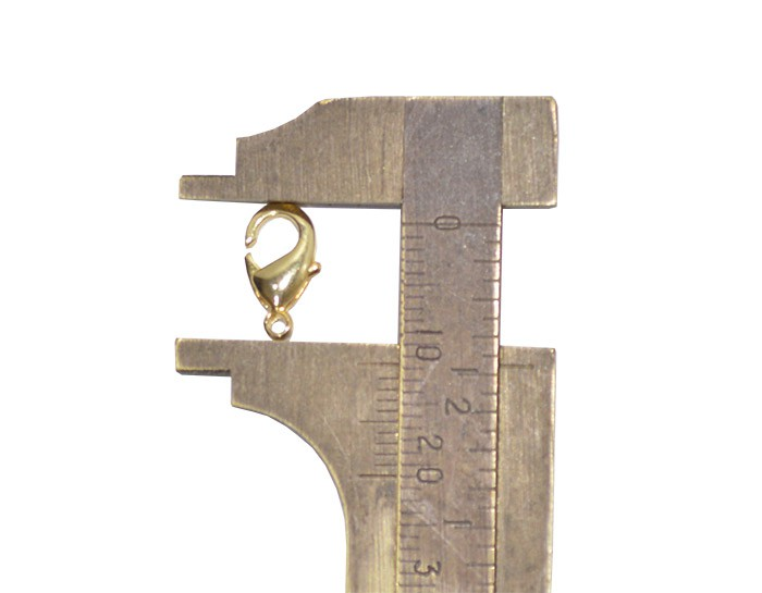 Fecho Lagosta Metal 12mm Cores Variadas - 10 GRAMAS - AM112  - ArtStones