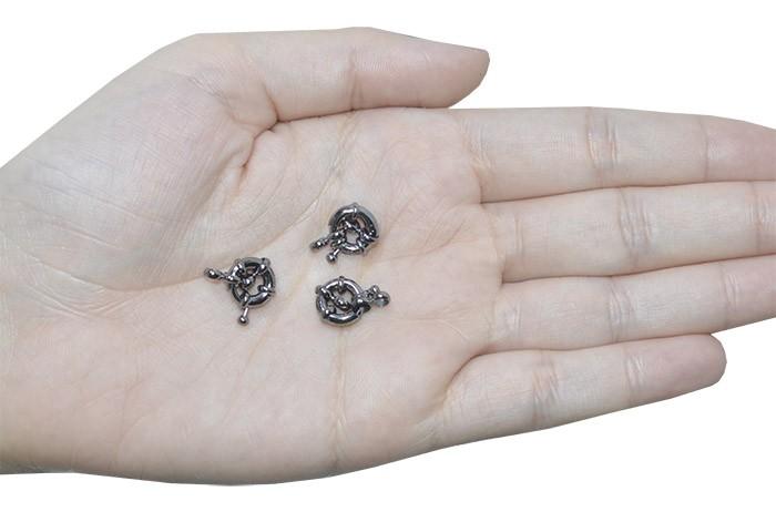 Fecho Bóia 10mm Cores Variadas - 5 peças - AM113  - ArtStones