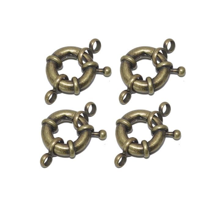 Fecho Bóia 13mm Cores Variadas - 5 peças - AM114  - ArtStones