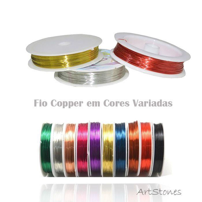 Fio Copper Colorido Espessura 0.40mm (Banho Chines) - 7mts - FAR_18  - ArtStones