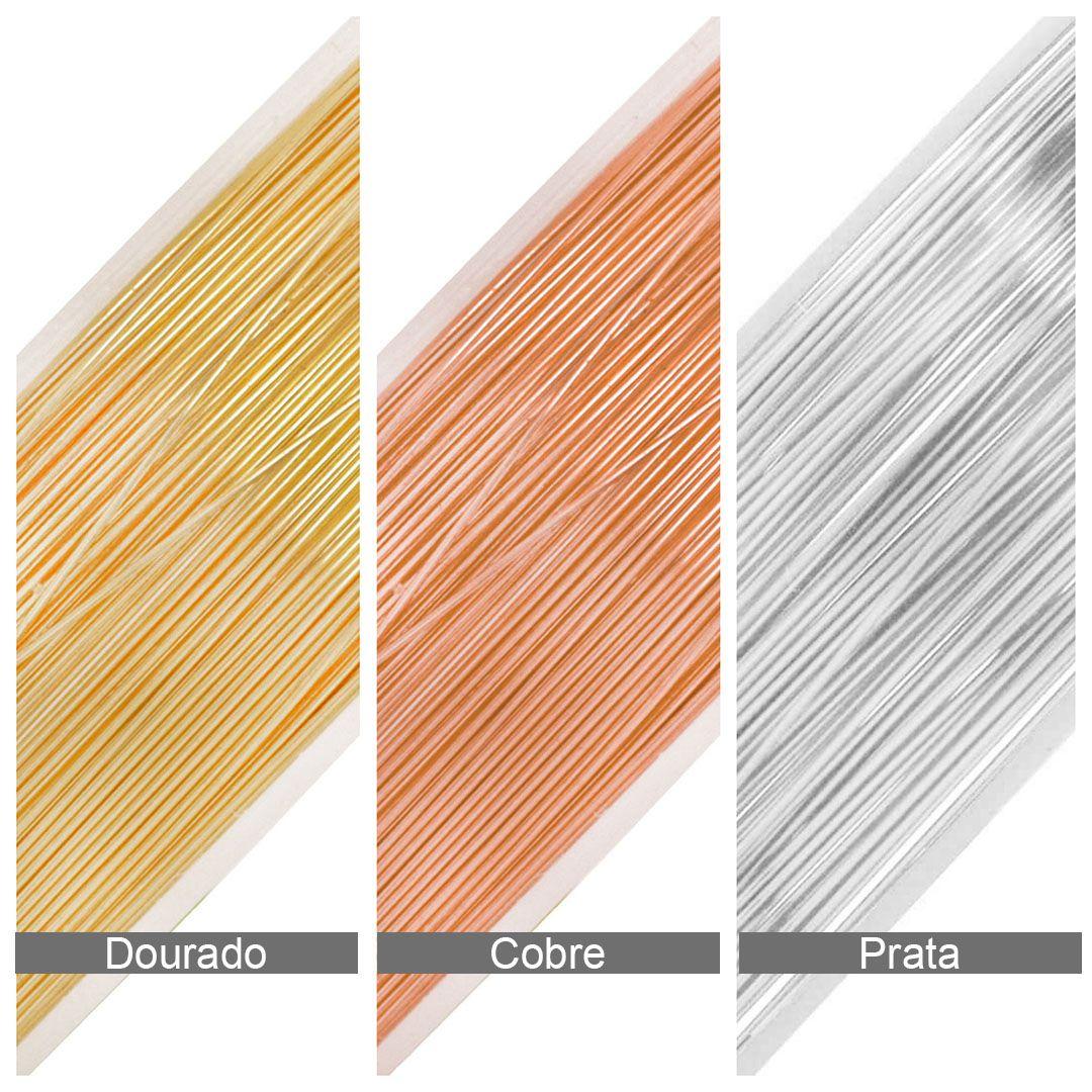 Arame Fio Copper Metalizado Espessura 0.30mm - 6mts - MM098  - ArtStones