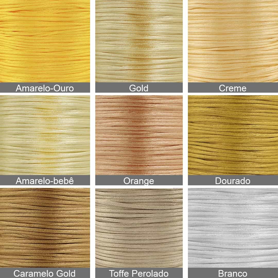Fio Cordão De Seda 1mm Cores Variadas - 50MTS - MM025  - ArtStones