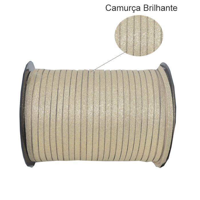 Fio de Camurça Cappuccino Brilhante Tamanhos Variados - PACOTE - MM074  - ArtStones