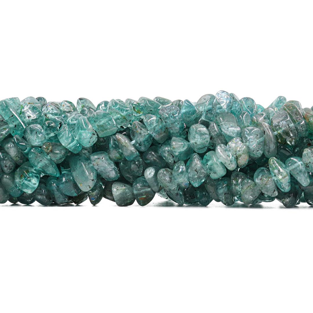 Fio de Cascalho Rolado de Apatita Verde Natural - FC038  - ArtStones