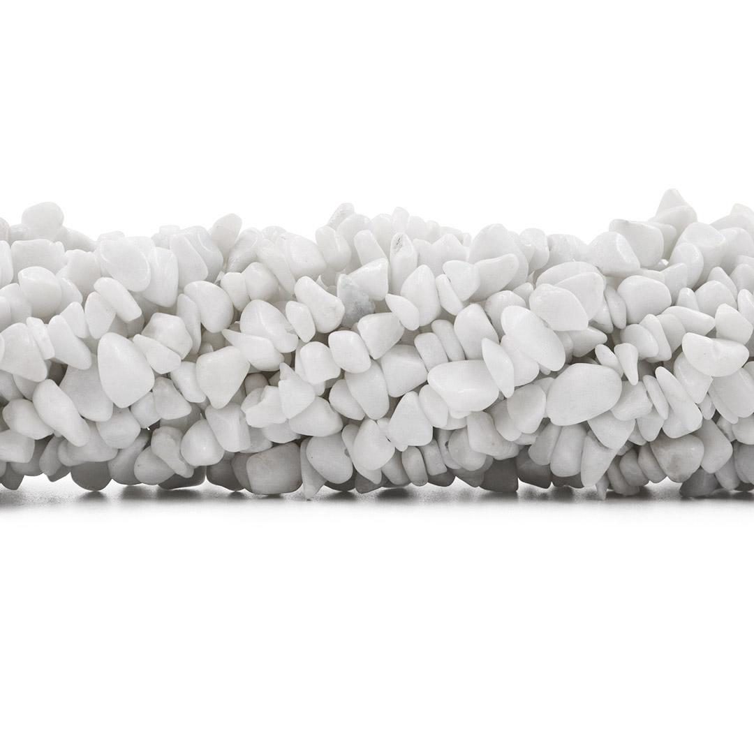 Fio de Cascalho de Calcedônia Natural Branca - FC098  - ArtStones