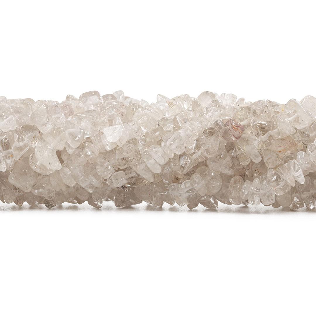 Fio de Cascalho de Cristal Rutilado - FC037  - ArtStones