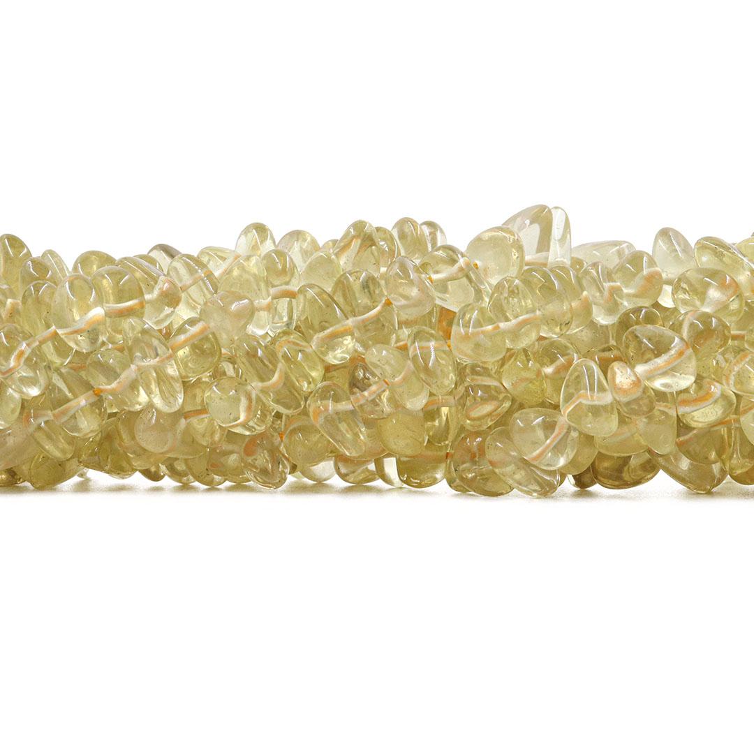 Fio de Cascalho Rolado de Green Gold Natural - FC081  - ArtStones