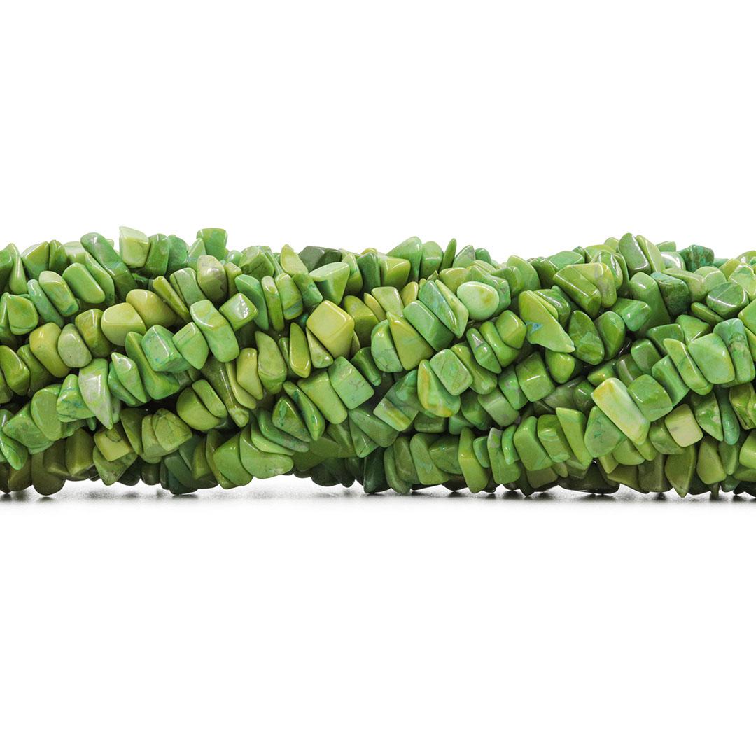 Fio de Cascalho de Howlita Verde - FC025  - ArtStones