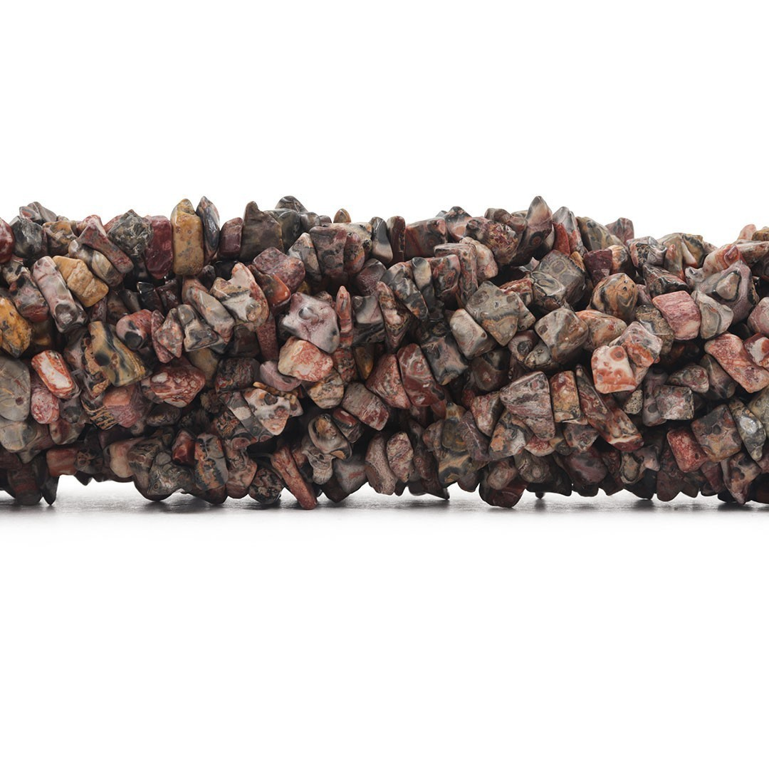 Fio de Cascalho de Jaspe Leopardo - FC052  - ArtStones