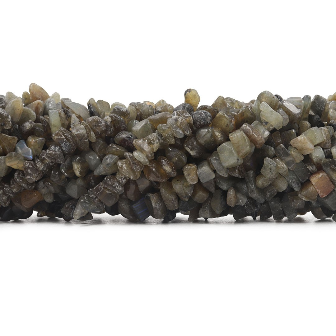 Fio de Cascalho de Labradorita Graúda - FC016  - ArtStones