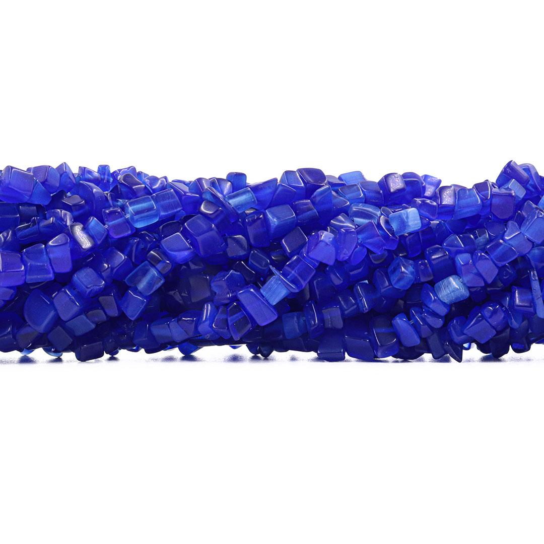 Fio de Cascalho de Olho de Gato Azul Bic - FC028  - ArtStones