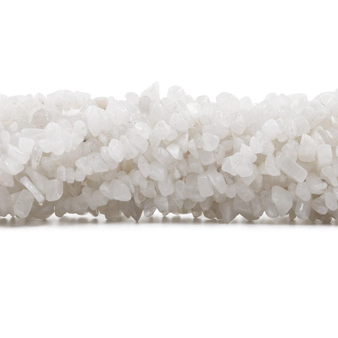 Fio de Cascalho de Quartzo Branco Natural - FC020  - ArtStones
