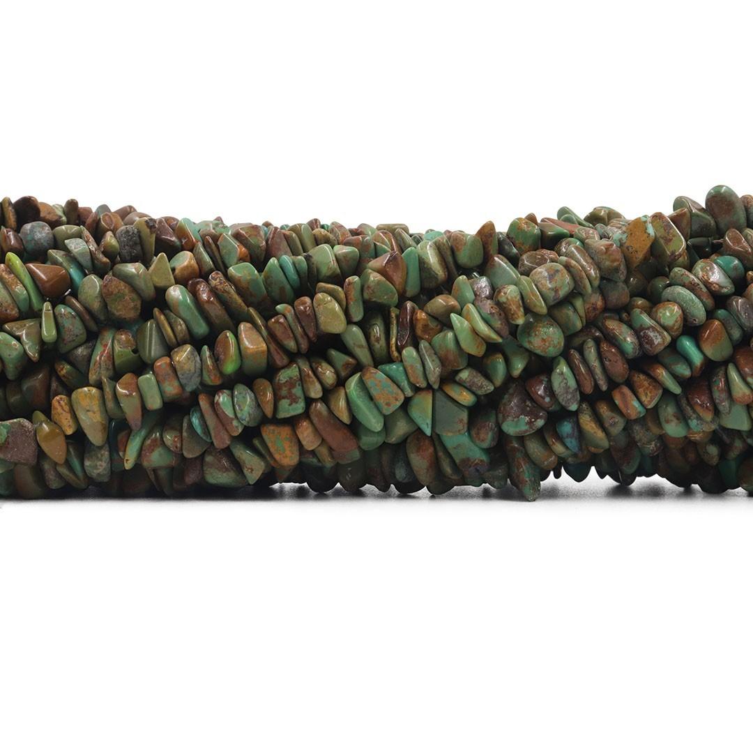 Fio de Cascalho de Turquesa Africana - FC067  - ArtStones